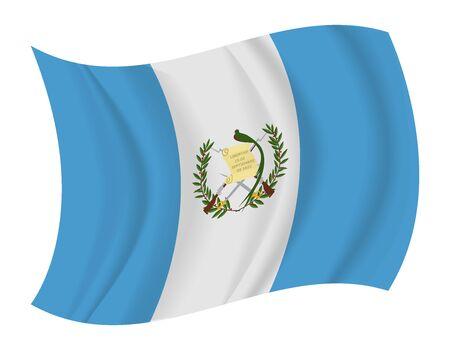 bandera de guatemala: dise�ar Guatemala bandera ondeando vector