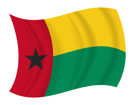 guinea bissau: design Guinea Bissau flag waving vector Illustration