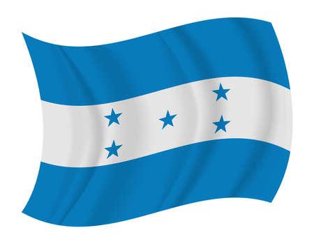 bandera honduras: diseñar Honduras bandera ondeando vector