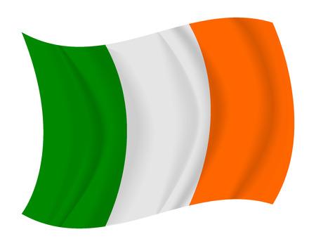 bandera irlanda: dise�ar Irlanda bandera ondeando vectorial Vectores