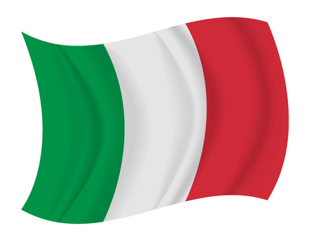 design Italy flag waving vector Illustration