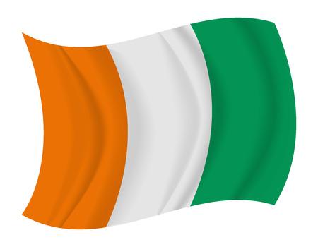 coast: design Ivory Coast flag waving vector