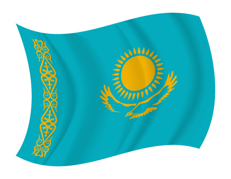 design Kazakhstan flag waving vector