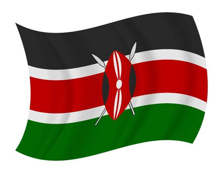 kenya: design Kenya flag waving vector