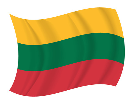 lithuania flag: design Lithuania flag waving vector