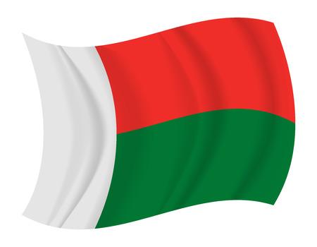 design Madagascar flag waving vector Illustration