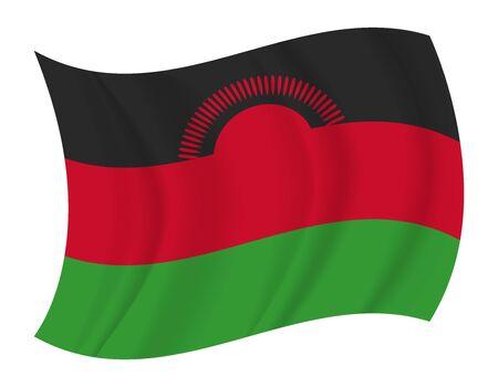 malawi: design Malawi flag waving vector