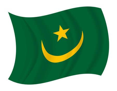 mauritania: design Mauritania flag waving vector