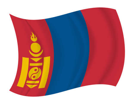mongolia: design Mongolia flag waving vector