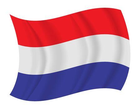 netherlands flag: design Netherlands flag waving vector