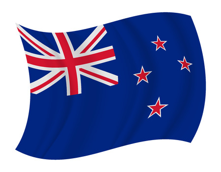new zealand: design New Zealand flag waving vector