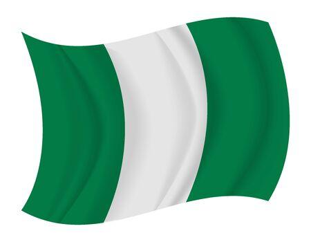 nigeria: design Nigeria flag waving vector Illustration
