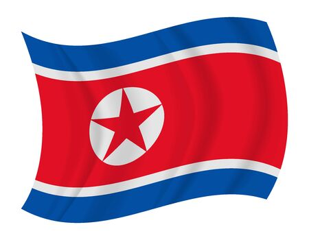 north korea: design North Korea flag waving vector