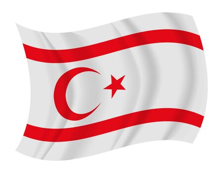 cyprus: design Northern Cyprus flag waving vector Illustration