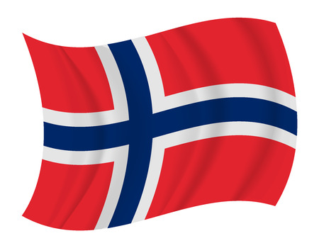 design Norway flag waving vector