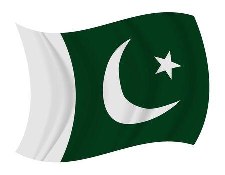 pakistan flag: design Pakistan flag waving vector