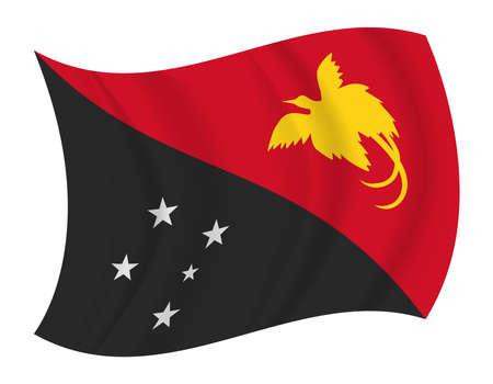 papouasie: concevoir Papouasie Nouvelle Guin�e drapeau vecteur agitant