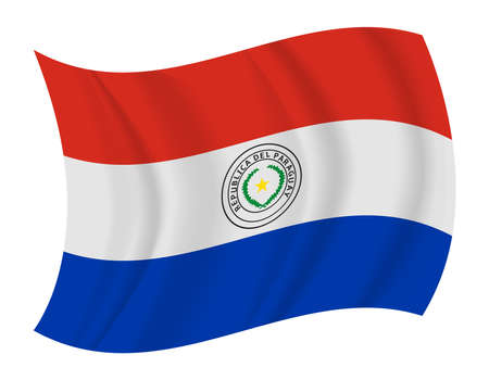 bandera de paraguay: dise�ar Paraguay bandera ondeando vector Vectores