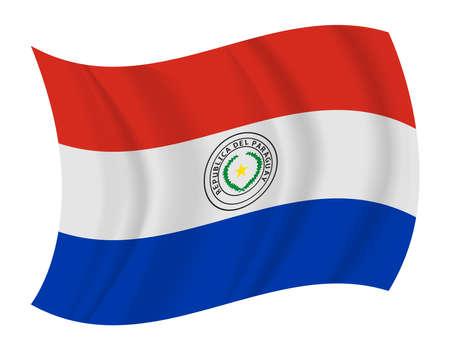 Paraguay flag: dise�ar Paraguay bandera ondeando vector Vectores