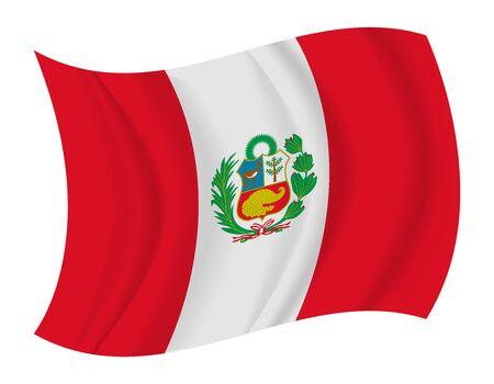 bandera peru: dise�ar Per� bandera ondeando vector