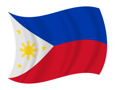 waving flag: design Philippines flag waving vector