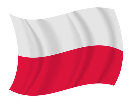poland flag: design Poland flag waving vector