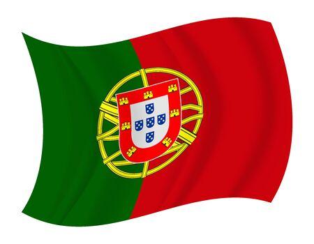 portugal flag: design Portugal flag waving vector