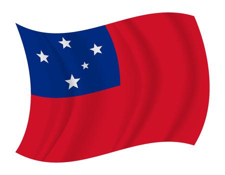 design Samoa flag waving vector Illustration
