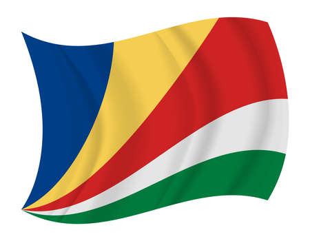 seychelles: design Seychelles flag waving vector