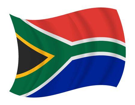 south africa flag: design South Africa flag waving vector Illustration