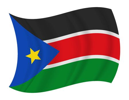 south sudan: design South Sudan flag waving vector