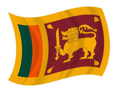 sri: design Sri Lanka flag waving vector