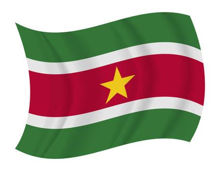suriname: design Suriname flag waving vector Illustration