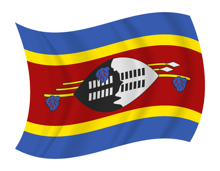 swaziland: design Swaziland flag waving vector Illustration