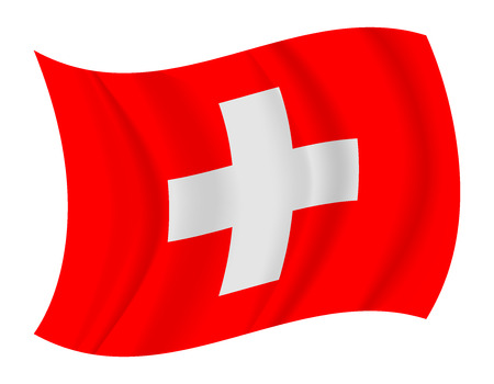design Switzerland flag waving vector Ilustrace