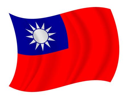 concevoir Taiwan drapeau flottant vecteur