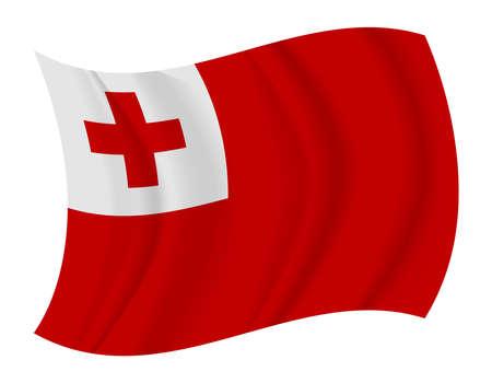 design Tonga flag waving vector