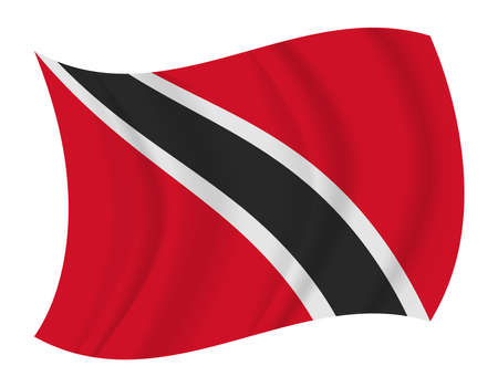 tobago: design Trinidad and Tobago flag waving vector