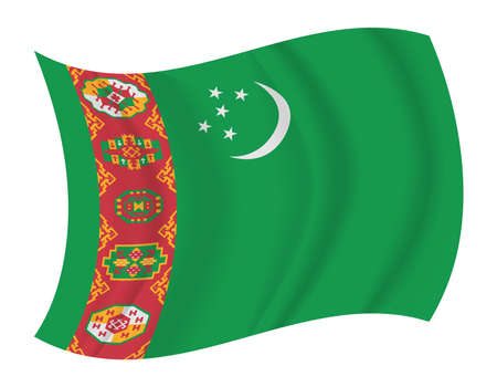 turkmenistan: design Turkmenistan flag waving vector