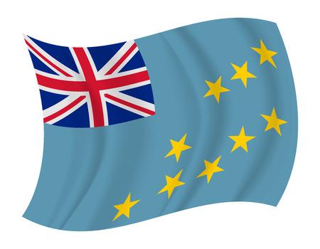 tuvalu: design Tuvalu flag waving vector