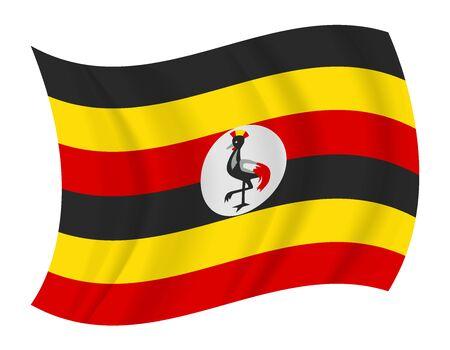 uganda: design Uganda flag waving vector Illustration