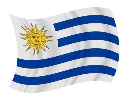 bandera de uruguay: diseñar Uruguay bandera ondeando vector Vectores
