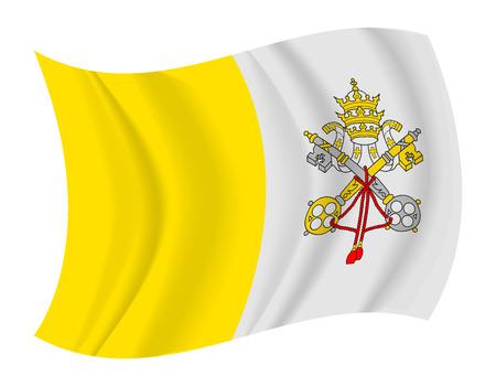 ciudad del vaticano: dise�o de la Ciudad del Vaticano bandera ondeando vector Vectores