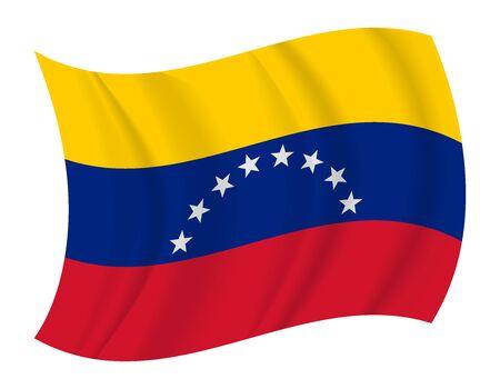 venezuela flag: dise�ar Venezuela bandera ondeando vector