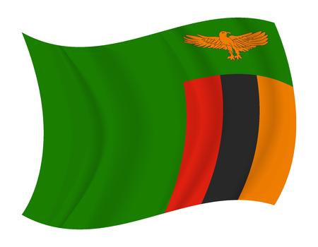 zambia flag: design Zambia flag waving vector