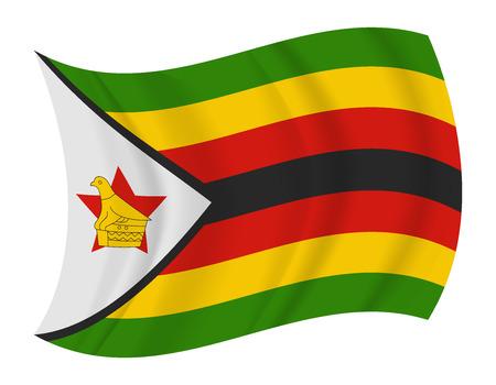 zimbabwe: design zimbabwe flag waving vector