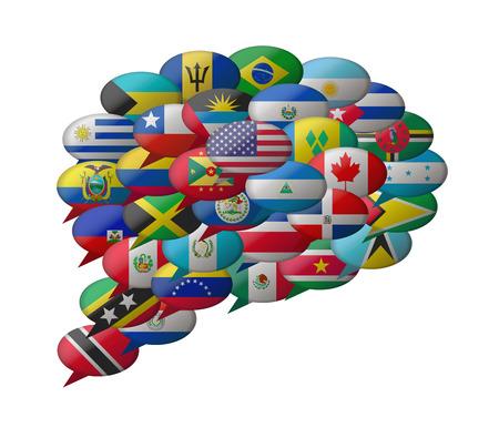 spreken amerika talen Stock Illustratie