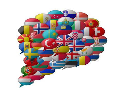speak europe languages  イラスト・ベクター素材