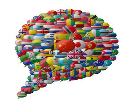 wereldtalen Stock Illustratie
