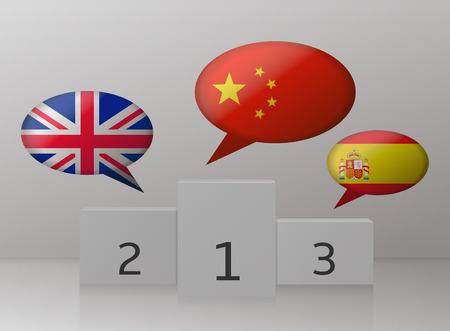 spoken: most spoken languages Illustration
